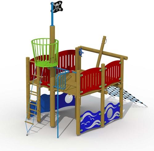 Speelelement Vikingboot (achtersteven) - montage op de grond (type B)